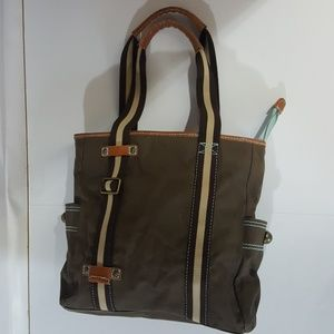 Gap Brown Heavyweight Canvas Cotton Tote Bag